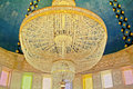 Chandelier in mausoleum of habib bourgiba monastir tunisia Royalty Free Stock Photo