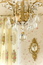 Chandelier and sconce Stock Photo