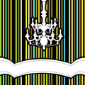 Chandelier with striped background Royalty Free Stock Image