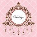 Chandelier vintage frame