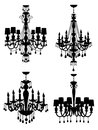 Chandeliers collection Royalty Free Stock Photos