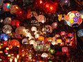 Chandeliers and lamps at grand bazaar in istanbul Royalty Free Stock Images