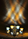 Chandeliers s light irradiation to the roof Royalty Free Stock Photos