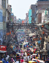 Chandni Chowk Market in New Delhi, India Royalty Free Stock Image