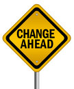 Change ahead sign Stock Image