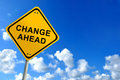 Change ahead sign Royalty Free Stock Photo