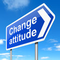 Change attitude concept illustration depicting a sign with a Stock Images