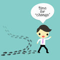 Change for the better businessman who choose difference way that is Royalty Free Stock Image