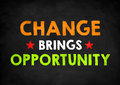 Change brings opportunity chalkboad concept Royalty Free Stock Photos