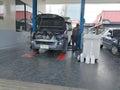 Change engine oil service center