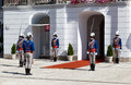 Change of a guard of honor at the presidential palace in bratislava slovakia july is most populous and most visited Royalty Free Stock Photos