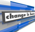 Change is Here - Abstract Blue Bar Stock Image