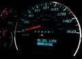 Change oil soon warning light engine on dashboard Royalty Free Stock Photo