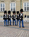 Change of royal guards at amalienborg castle in copenhagen denmark august on august the is a regiment Stock Photo