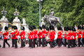 Change of the royal guards united kingdom london july changing at buckingham palace Royalty Free Stock Photography