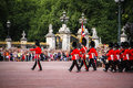 Change of the royal guards united kingdom london july changing at buckingham palace Stock Photo