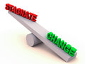 Change or stagnate balance Stock Photography