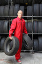 Change of tires Royalty Free Stock Photography
