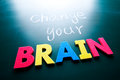 Change your brain concept Royalty Free Stock Photography
