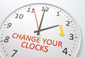 Change your clocks an image of a nice clock with text Royalty Free Stock Photography