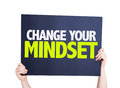 Change Your Mindset card isolated on white Royalty Free Stock Photo