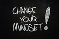 Change your mindset written with chalk on blackboard Stock Image