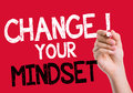Change your Mindset written on the wipe board Royalty Free Stock Photo