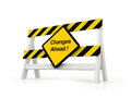 Changes ahead d isolated sign show Royalty Free Stock Images
