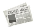 Changes ahead newspaper Stock Photography
