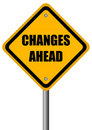 Changes ahead sign Royalty Free Stock Photo