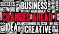 Changes Ahead Word Cloud Royalty Free Stock Photo