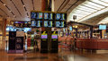 Changi airport information sreen counters at international singapore Royalty Free Stock Photography