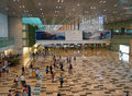 Changi international airport singapore jul a major aviation hub in asia serves more than airlines operating weekly flights Royalty Free Stock Images