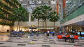 Changi international airport singapore jul a major aviation hub in asia serves more than airlines operating weekly flights Royalty Free Stock Photography