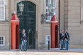 Changing of the guard at amalienborg palace in front in copenhagen denmark Stock Photos