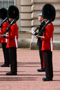 Changing of the guard at buckingham palace Stock Images