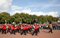 Changing of the guard at Buckingham Palace Royalty Free Stock Images