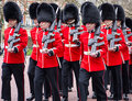 Changing the guard of at buckingham palace Royalty Free Stock Images