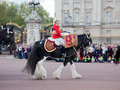 Changing of the guard in buckingham palace london may british royal guards riding on horse and perform on may london uk Stock Images