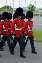 Changing of the Guard, La Citadelle, Quebec Royalty Free Stock Photo
