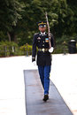 Changing the guards in the afternoon at the tomb of the unknown soldier