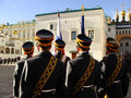 Changing of the guards ceremony moscow kremlin complex russia cathedral square Stock Photo