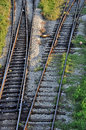 Changing railroad tracks Royalty Free Stock Photo