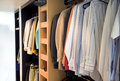 Changing room - wardrobe Royalty Free Stock Image