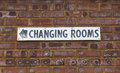 Changing Rooms Sign Stock Photo
