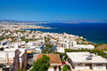 Chania city view of the white houses of beautiful from above its crete greece Stock Photography