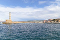 Chania Harbor Entrance Royalty Free Stock Photo