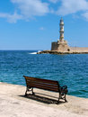 Chania lighthouse Royalty Free Stock Photos