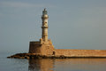 Chania Lighthouse Royalty Free Stock Images