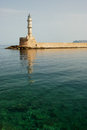 Chania Lighthouse Stock Photography